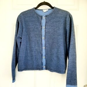 Eco Sport Organic Cotton Blue Button Up Cardigan